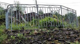 Wrought iron garden panels x2