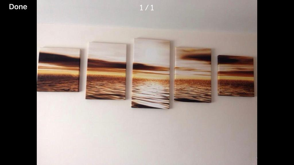 5 piece sunset canvas