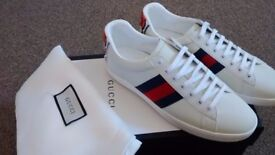 Gucci mens Gucci ace low trainers size 10 UK