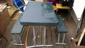 camping table x two chairs
