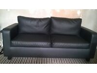 Large 2 seater faux leather sofa