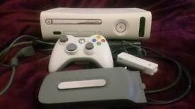Xbox 360 60GB plus Controller and Wireless Adapter