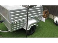4x3 camping trailer and camping equipment