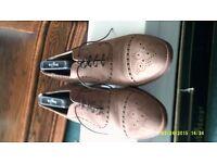 New buck Leather Brouge with Wedge Heel Size U.K. 7.5