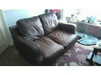 ***FREE*** Leather 2 seater sofa