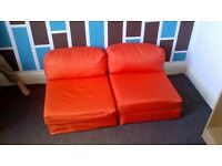 2X Single chair bed sofa