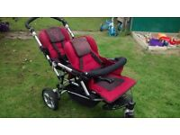 Jane Double Buggy Pushchair with Car Seats