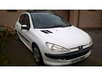 2001 peugeot 206 1.4 LX 5 door LONG MOT LOW MILES electric sunroof
