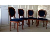 Four Dining Room chairs . Excellent condition.