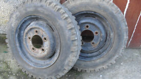 Land Rover wheels series 2a - 3 600/16 tyres