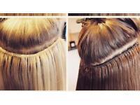 Braidless micro weave hair extensions