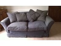 Shabby chic sofa with removable cover