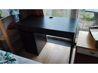 Black IKEA MICKIE desk