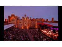 2 x Van Morrison tickets - Hampton Court Festival 15th June 2017 - 3rd row C3&4 inc Champagne