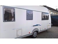 Fleetwood Sonata Melody 5 berth 2005 caravan with motor mover and full size awning. CRIS registered