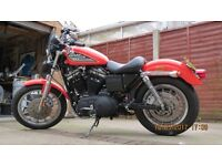 Harley Davidson Sportster 883R 100 year Anniversary model with 1200 engine 2003 bike private reg no