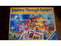 Journey through Europe Board game