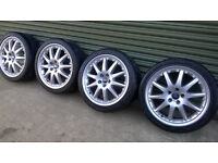 """18"""" Ford Transit Connect, Mondeo, Focus, C max, Galaxy Alloy Wheels+Tyres Excellent condition"""