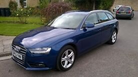 Audi A4 Low Mileage Blue with Cream suede seats, Stop Start, SatNav