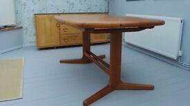 Mid-Century Danish Solid Wood Dining Table