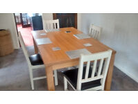 lovely table and 4 chairs.