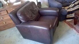 Armchair - leather/black