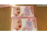 Lansinoh Disposable Nursing Pads (60 Pieces) & johnsons nursing pads (6 boxes) - New
