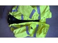 AS NEW CONDITION - ARCO HI Vis Yellow Fleece Lined Jacket - Size Large