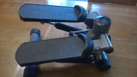 PRO FITNESS MINI STEPPER & INSTRUCTION MANUAL (& RESISTANCE CORDS NEW IN BAG)