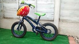 Ben10 Alien Force Kid's Bike with stabilisers and a helmet