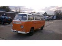 1971 VW early bay window pop top T2 camper van MOT, RIGHT hand drive Credit / debit card accepted