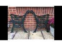 Cast iron bench ends- heavy!