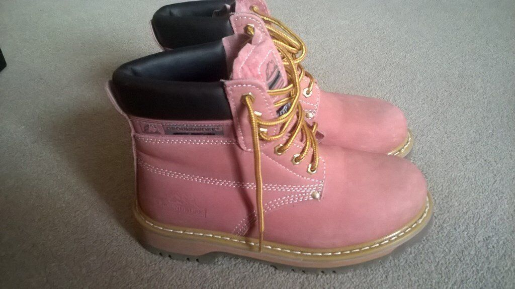 Pink Suede Ladies Saftey Shows with Steel Toe CapsMade by Groundwork safety shoesin Pickering, North YorkshireGumtree - New, only worn once (bought the wrong size) in very good condition. Pink Suede Ladies Saftey Shows with Steel Toe Caps. Cost £32 new