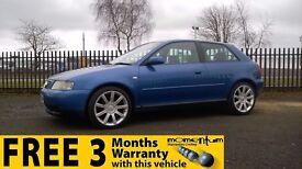 Audi A3 Sport + 1 Year MOT, Warranty.