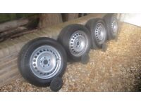 VW Transporter T5 clean wheels and good tyres £100