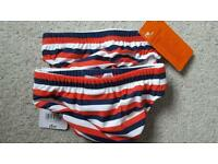 Boys mothercare 3-6 month swimming trunks/nappy