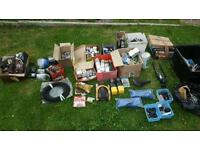 Job lot of bike bicycle spares and old shop stock
