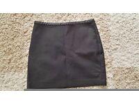 H&M black mini skirt size 10