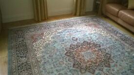 Persian rug ( genuine Kashan) Diamond shaped medallion pattern