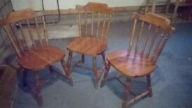 3 pine dining chairs - price per chair