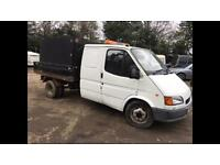 Ford Transit Tipper Smiley Face Crew Cab