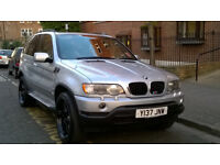 BMW X5 3.0i SPORT 4X4 AUTO 2001 Y REG MET SILVER / LEATHER 5 DOORS PAS A/C DVD 143K MILES SUPERB