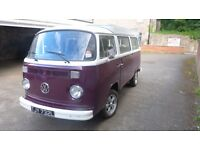 VW Campervan type 2 (1972 Tax exempt) £12000 ono