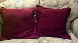 2 red cushions