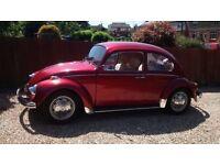 classic 1968 vw beetle, left hand drive