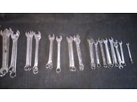 combination spanners 6-17mm/ facom 13mm