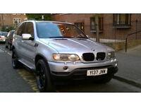 BMW X5 3.0i SPORT 4X4 AUTO 2001 Y REG MET SILVER / LEATHER 5 DOORS PAS A/C DVD 143K MILES SUPERB
