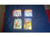 2 LEGO Chima tribe pacts, DVD, cards and story book