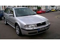 SKODA OCTAVIA 1.9 TDI ELEGANCE DIESEL ESTATE 2003 03 REG SILVER 5 SPEED MANUAL PAS A/C 131K SUPERP