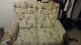 Beige/ cream 2 seater sofa